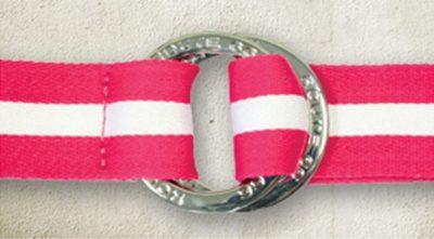 10 Damen Canvas Gürtel pink white 1500x827 400x221 - ROUTE 66 - Damen Canvas Gürtel