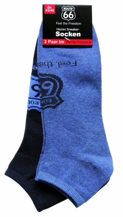 11 Damen und Herren Sneakersocken 2er Pack blau navy 854x15001 400x703 - ROUTE 66 - Damen- und Herren Sneakersocken 2er Pack
