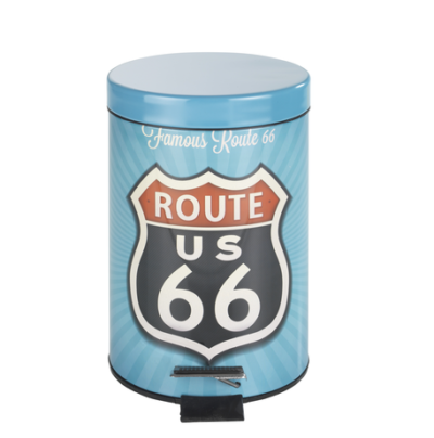 1 Cosmetic pedal bin Vintage Route 400x404 - Cosmetic pedal bin Vintage Route 66