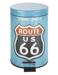 1 Cosmetic pedal bin Vintage Route 200x260 - Cosmetic pedal bin Vintage Route 66