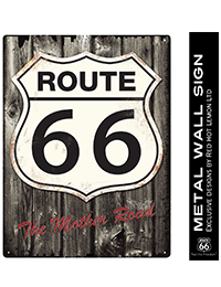 1 ROUTE 66 WOOD WALL SIGN 200x260 - ROUTE 66 WOOD WALL SIGN