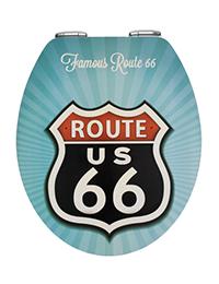 1 Toilet seat Vintage Route 66 Metal Plate 200x260 - Toilet seat Vintage Route 66 Metal Plate