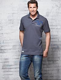 25 8 Herren Polo Shirt Pique grau 200x260 - ROUTE 66 - Herren Polo Shirt - Pique