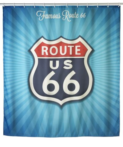 2 Anti mould shower curtain Vintage Route amazon.fr 1253x15001 400x479 - Anti-mould shower curtain Vintage Route 66