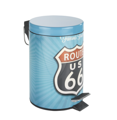 2 Cosmetic pedal bin Vintage Route 400x407 - Cosmetic pedal bin Vintage Route 66