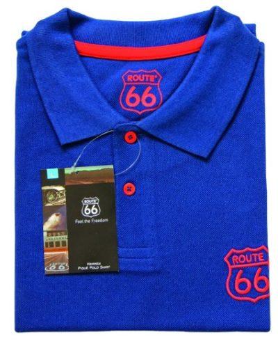 2 Herren Pique Polo Shirt blau 425x531 400x500 - ROUTE 66 - Herren Pique Polo Shirt