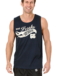 32 6 Tank Top navy 200x260 - Route 66 - Tank Top