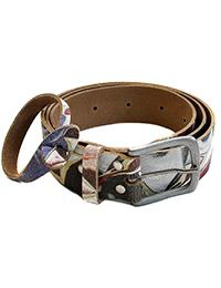 36 7 Ledergurtel mit Armband geblumt 200x260 - Route 66 - Ledergürtel mit Armband