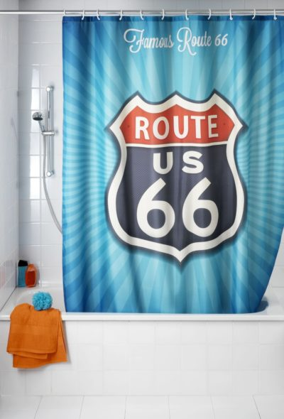 3 Anti mould shower curtain Vintage Route amazon.fr 1017x15001 400x590 - Anti-mould shower curtain Vintage Route 66