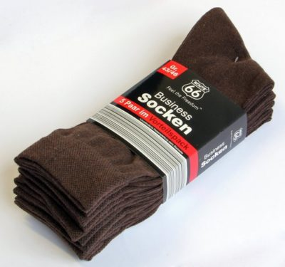 3 Business Socken 5er Pack braun 522x489 400x375 - Route 66 - Business Socken 5er Pack