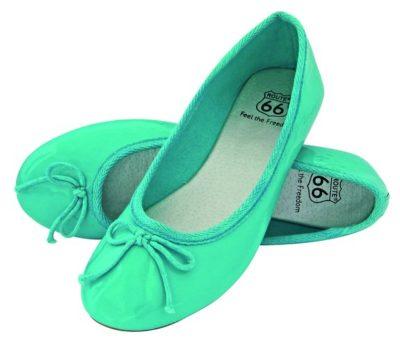 3 Damen Ballerina turkis 575x490 400x341 - ROUTE 66 - Ladies Ballerina Shoes