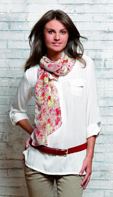 3 Damen Ledergürtel mit Schal gemustert 391x679 - Route 66 - Ladies leather belt and scarf