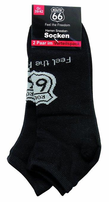 3 Damen und Herren Sneakersocken 2er Pack schwarz 367x679 - ROUTE 66 - Damen- und Herren Sneakersocken 2er Pack