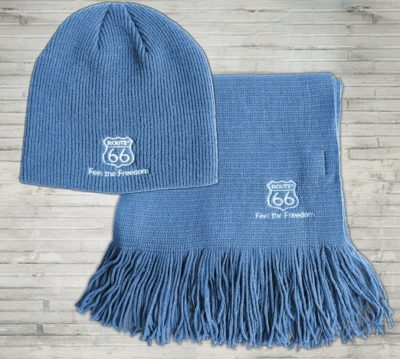 3 Herren Mütze mit Schal SET blau 522x469 400x359 - ROUTE 66 - Herren Mütze mit Schal SET