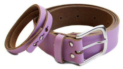 3 Ledergürtel mit Armband lila 522x295 400x226 - Route 66 - Ledergürtel mit Armband