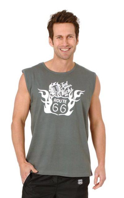 3 Muscle Shirt grau 428x679 400x635 - Route 66 - Muscle Shirt
