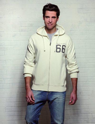3 Sweatshirt Kapuze Hoodie 3D Logo creme 420x550 400x524 - ROUTE 66 - Sweatshirt - Hoodie 3D Logo