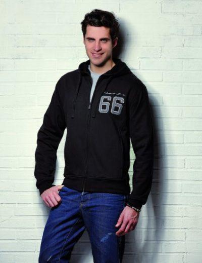 3 Sweatshirt Kapuze Hoodie 3D Logo schwarz 424x550 400x519 - ROUTE 66 - Sweatshirt - Hoodie 3D Logo