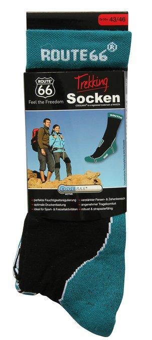 3 Trekking Socken petrol 303x679 - Route 66 - Trekking Socken