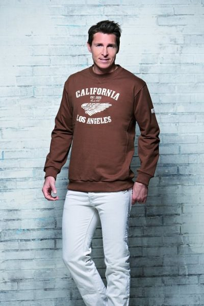 4 Collage Sweatshirt Troyer braun 453x679 400x600 - ROUTE 66 - Collage Sweatshirt / Troyer