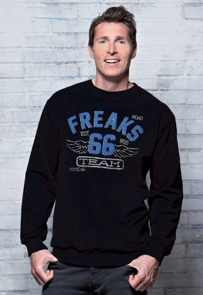 4 Collage Sweatshirt Troyer schwarz 469x679 400x579 - ROUTE 66 - Collage Sweatshirt / Troyer