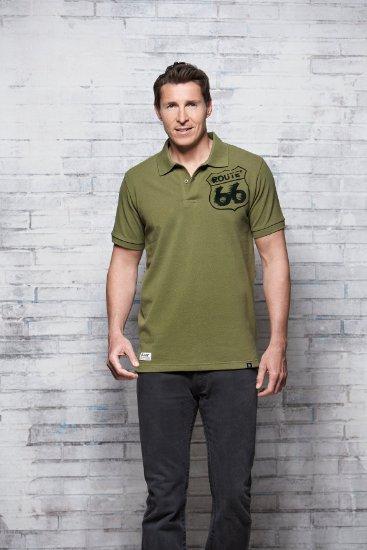 4 Herren Polo Shirt Pique olive 367x550 - ROUTE 66 - Herren Polo Shirt - Pique