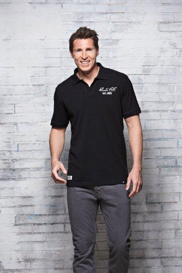 4 Herren Polo Shirt Pique schwarz 367x550 - ROUTE 66 - Herren Polo Shirt - Pique