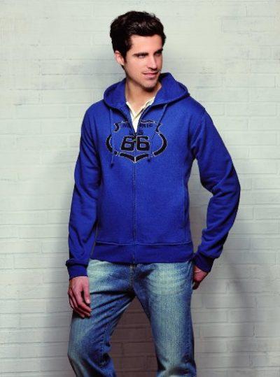 4 Sweatshirt Kapuze Hoodie 3D Logo blau 408x550 400x539 - ROUTE 66 - Sweatshirt - Hoodie 3D Logo