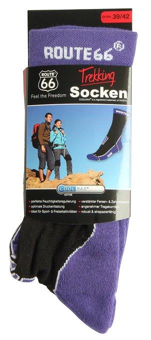 4 Trekking Socken lila 302x679 - Route 66 - Trekking Socken