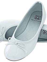 6 6 Damen Ballerina weiss 200x260 - ROUTE 66 - Ladies Ballerina Shoes
