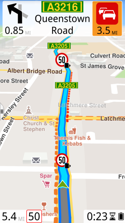6 GALAXYS5 Navigating imperial uk portrait 400x711 - ROUTE 66 Navigate for Android