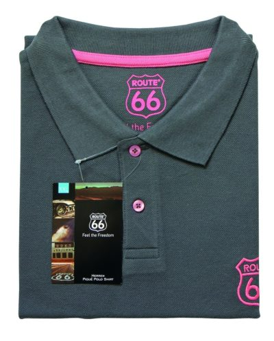 6 Herren Pique Polo Shirt grau 1071x13321 400x497 - ROUTE 66 - Herren Pique Polo Shirt
