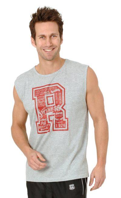 6 Muscle Shirt grau melange 919x1500 400x653 - Route 66 - Muscle Shirt