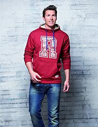7 7 Sweatshirt Kapuze rot 200x260 - ROUTE 66 - Sweatshirt