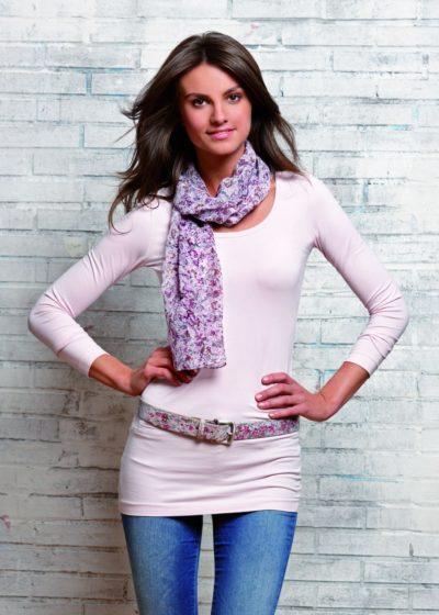7 Damen Ledergürtel mit Schal gemustert 1071x15001 400x560 - Route 66 - Ladies leather belt and scarf