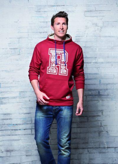 7 Sweatshirt Kapuze rot 1085x15001 400x553 - ROUTE 66 - Sweatshirt