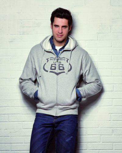 8 Sweatshirt Kapuze Hoodie 3D Logo grau 1191x15001 400x504 - ROUTE 66 - Sweatshirt - Hoodie 3D Logo