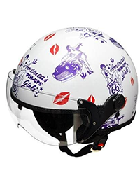 1_Capacete Kraft Route 66 Branco Femenino Harley Drag Shadow_200x260