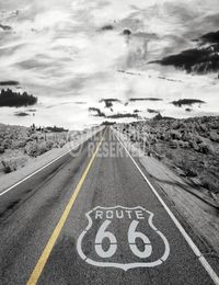 1 - Maxi Poster Route 66 - endless road