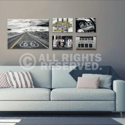 112 400x400 - Canvas 5-delig Route 66