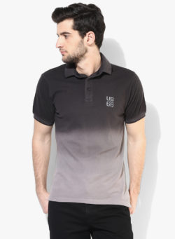 25 250x341 - Route 66 Black Solid Polo T-Shirt