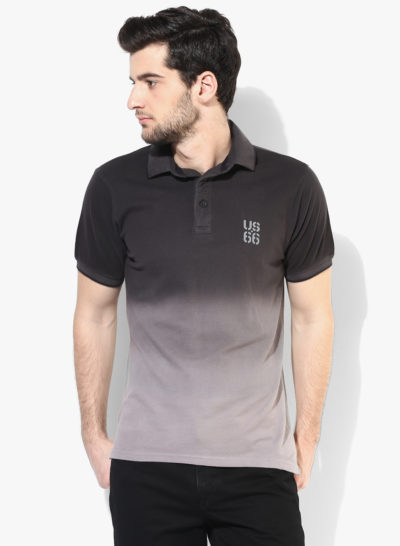 25 400x546 - Route 66 Black Solid Polo T-Shirt