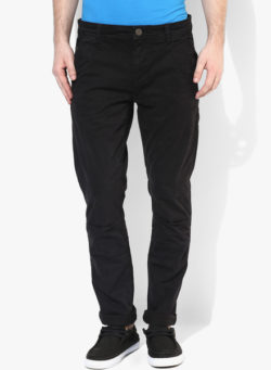 30 250x341 - Route 66 Black Solid Skinny Fit Chinos