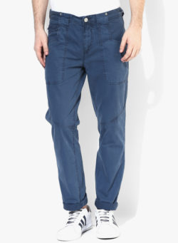 37 250x341 - Route 66 Blue Solid Slim Fit Chinos