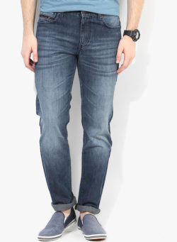 53 250x341 - Route 66 Blue Washed Regular Fit Jeans