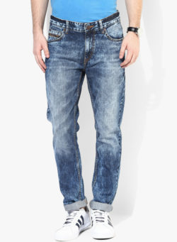 54 250x341 - Route 66 Blue Washed Slim Fit Jeans