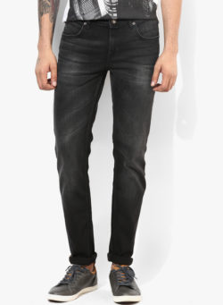 57 250x341 - Route 66 Black Solid Skinny Fit Jeans