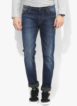 58 250x341 - Route 66 Blue Washed Slim Fit Jeans
