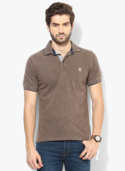 59 250x341 - Route 66 Olive Solid Polo T-Shirts