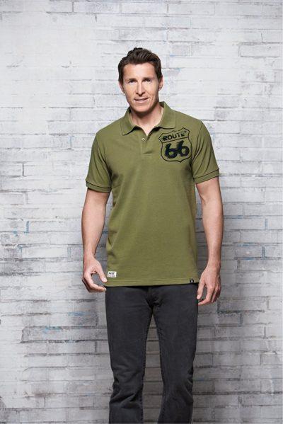 6 400x599 - ROUTE 66 - Herren Polo Shirt - Pique